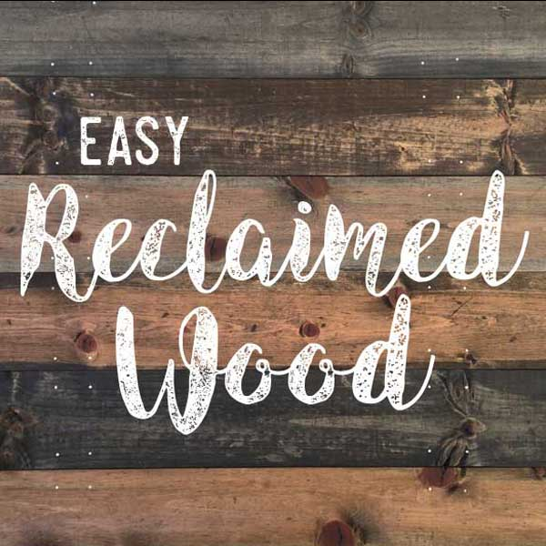 Social Crafts Tutorials - Easy Reclaimed Wood