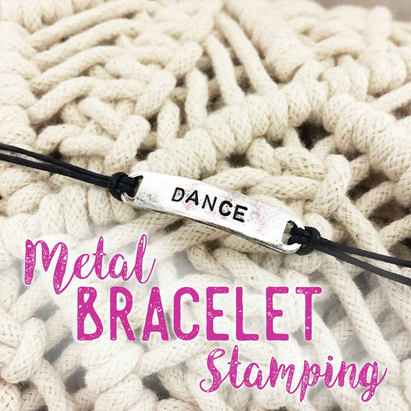 Metal Bracelet Stamping DIY Tutorial - Social Crafts