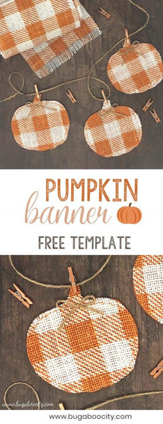 Pumpkin Fabric Banner. Fall Decor. Great for Thanksgiving. Fall DIY. Link found at socialcrafts.com #falldecor #diyfalldecor #thanksgivingdecor #easydiy #thanksgivingdiy #pumpkinbanner #pumpkindecor #pumpkindiy #fabricbanner #halloweendecor #halloweendiy