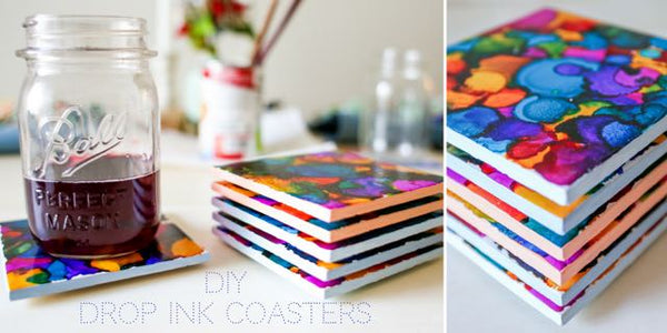 Social Crafts Events : DIY Drop Ink Coasters Craft