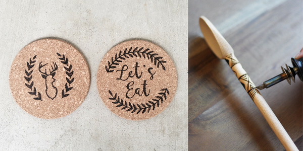 Social Crafts DIY Sessions - Hand Burned Trivets and Wood Spoons