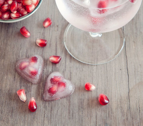 Pomegranate Ice Cubes by Two Loves Studio
