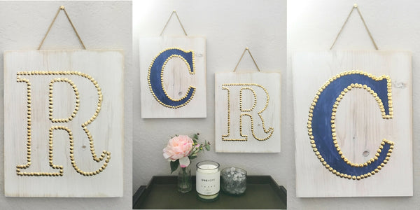 Social Crafts Monogram Studded Wall Art Event - Los Angeles - Hollywood - Craft Events