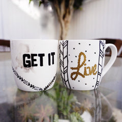 Social Crafts DIY Craft Kits - Diane Kazer Morning Mantra Mugs