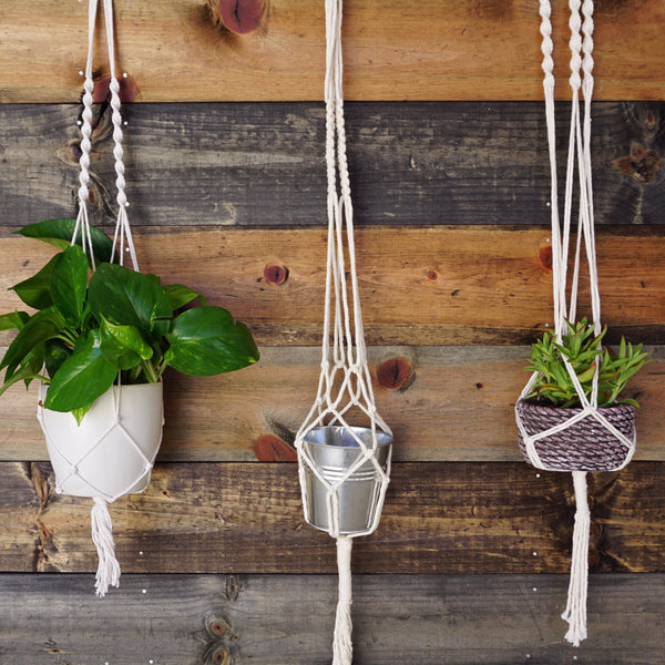 Social Crafts Events: DIY Macrame Plant Hanger Craft