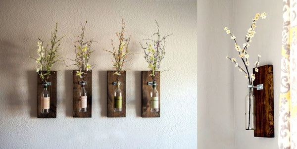 Social Crafts Events: DIY Wine Bottle Wall Vase Craft