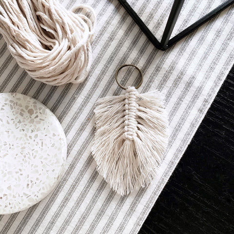 Macrame Feather Keychain Tutorial