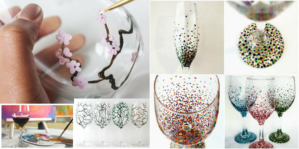 Social Craft Events - DIY Wine Glass Painting