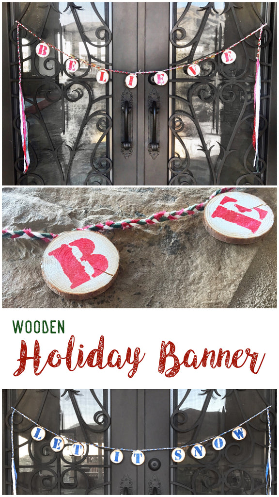 Wooden Holiday Banner - Social Crafts
