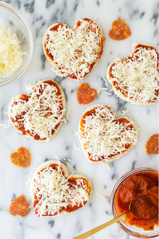 Heart Shaped Pizza by Sarah Hearts