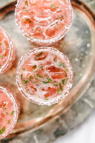 Strawberry Basil Margarita by Our Salty Kitchen