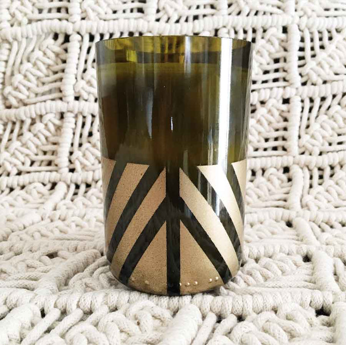 Gold Angle Wine Bottle Candle