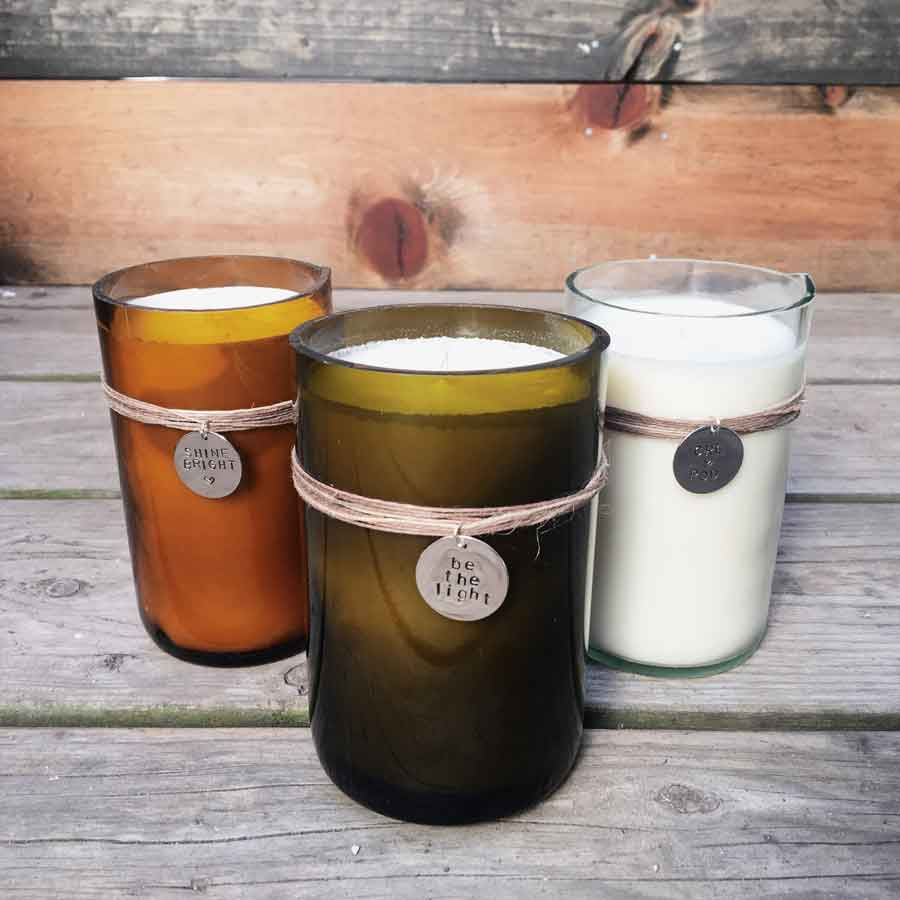 Personalized Wine Bottle OR Kombucha Bottle Candle