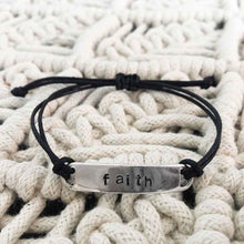 Personalized Hand-Stamped Cord Bracelet