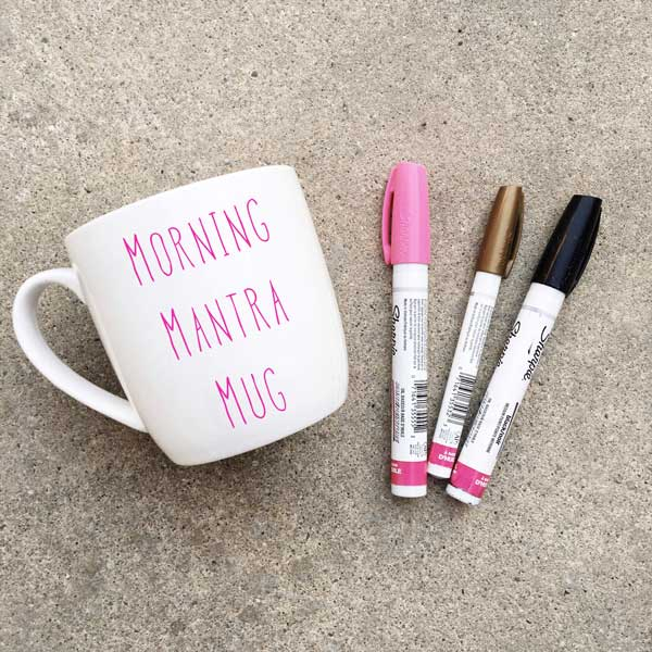 Social Crafts DIY Craft Kits - Diane Kazer's Morning Mantra Mugs