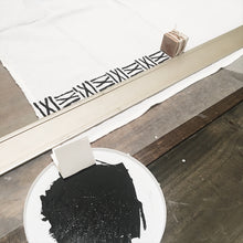 DIY Line Stamped Towels