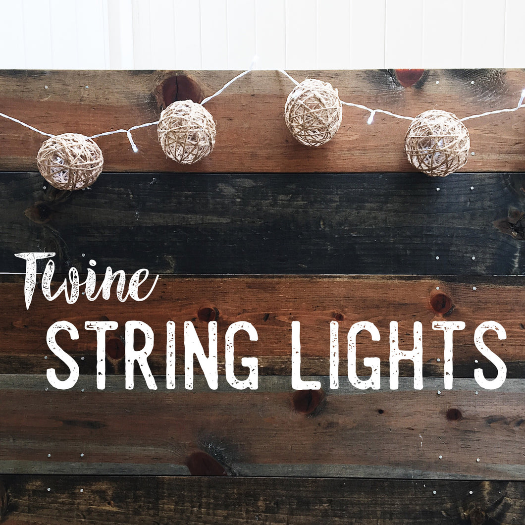 DIY Twine String Lights