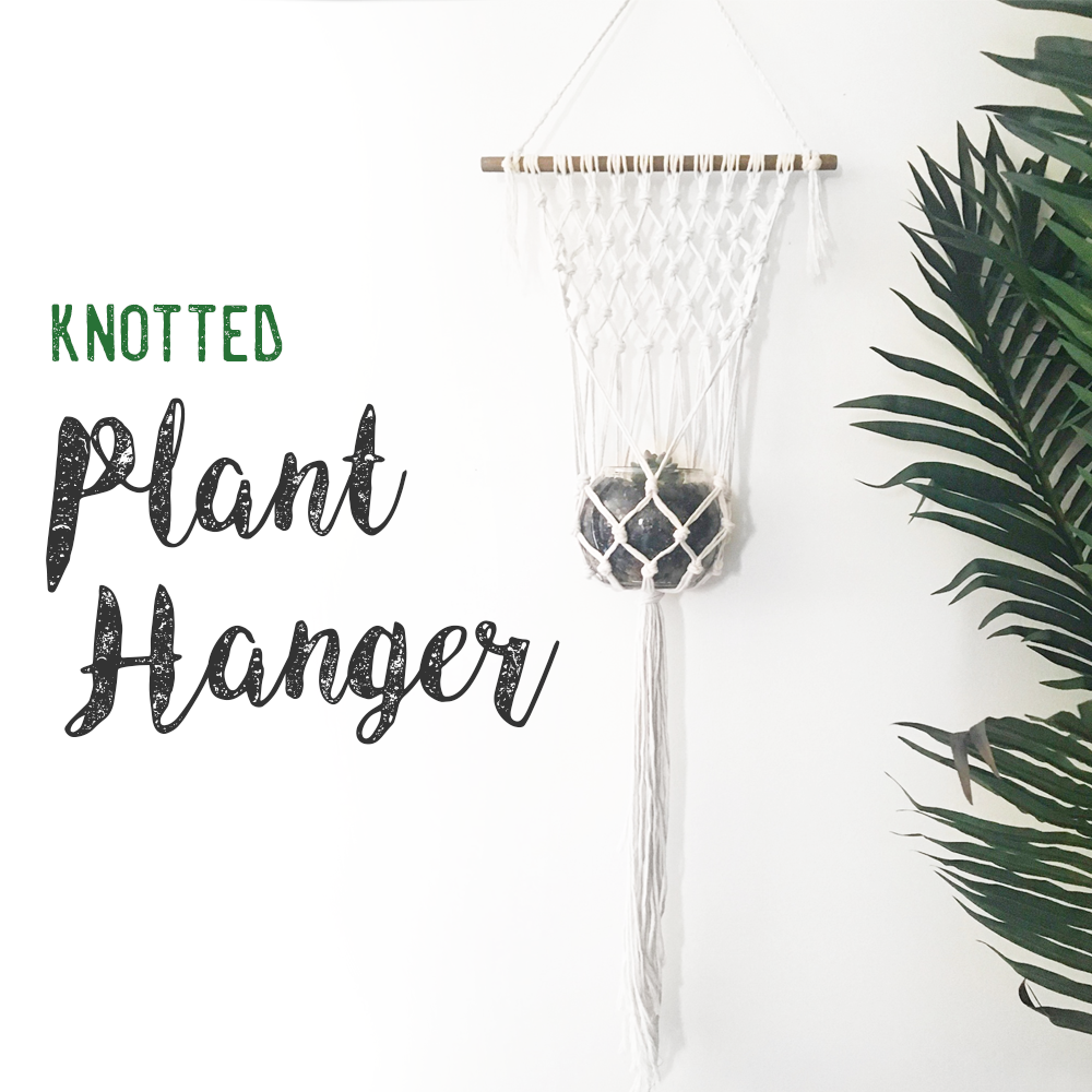 DIY Knotted Plant Hanger