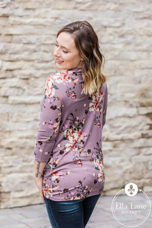 Madison Twist Top - Mauve