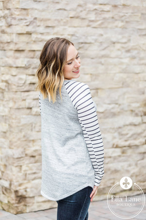 Heather Grey Raglan Top