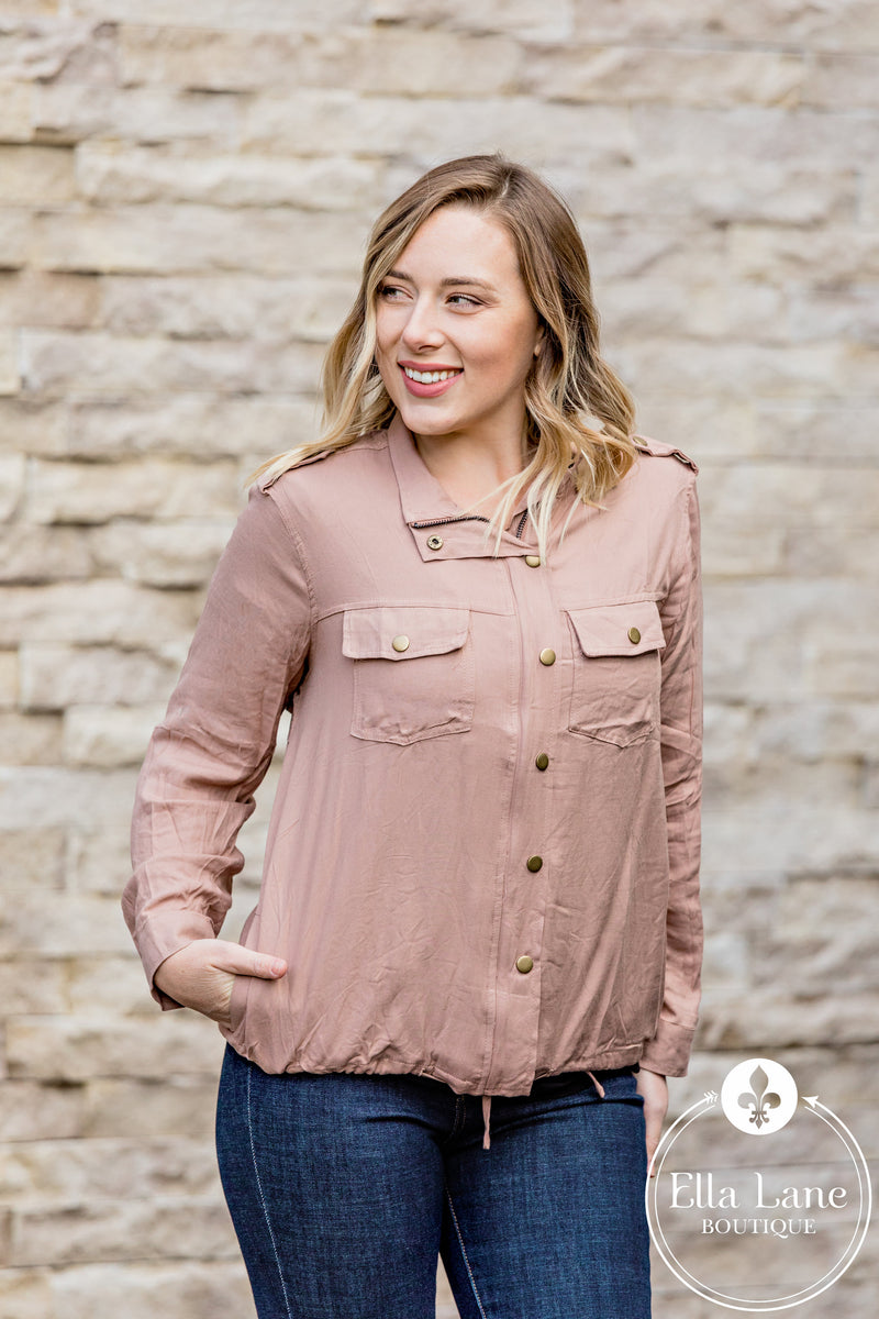 Bethany Blouse Top - Blush