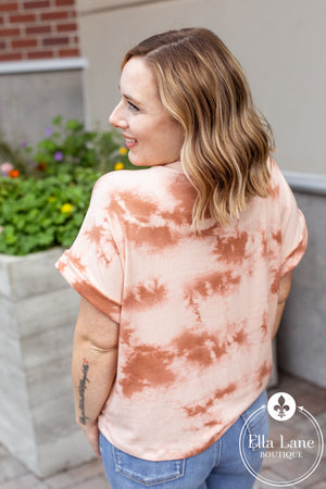 Marsala Dolman Tie Dye Top FINAL SALE