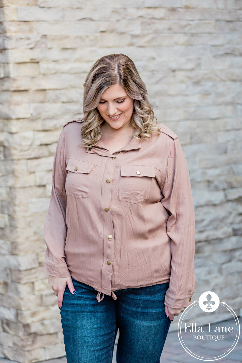 Bethany Blouse Top - Blush FINAL SALE
