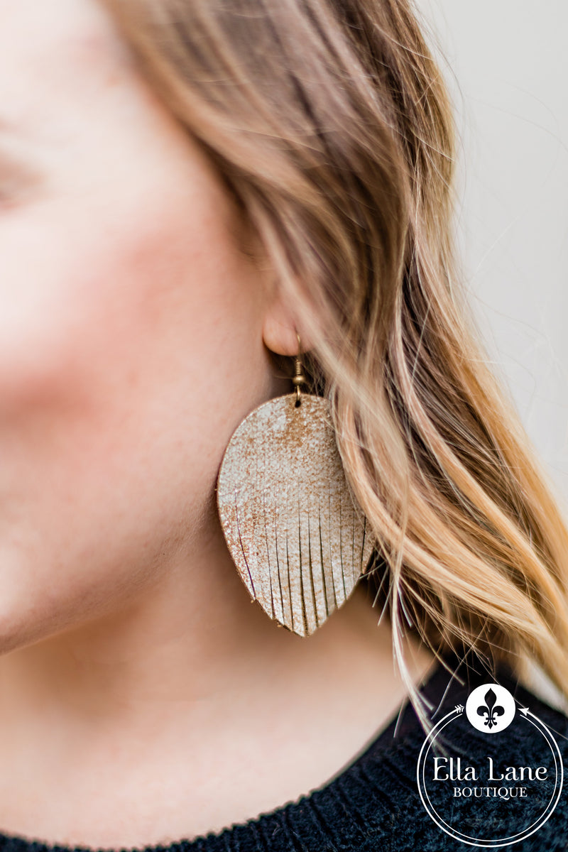 Bronze Fringe Earrings
