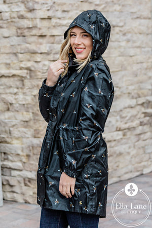 Black Bee Rain Coat