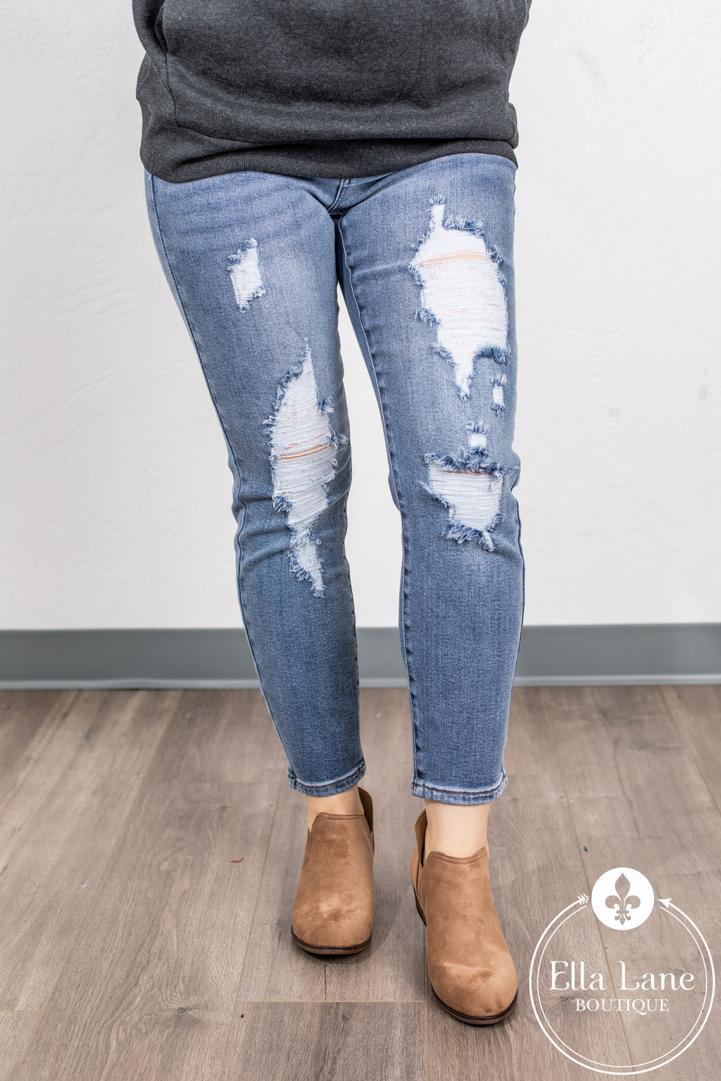 JB Janelle High Waisted Destroyed Jeans