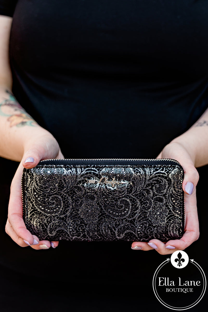 DB Glitz and Shimmer Wallet - Black FINAL SALE