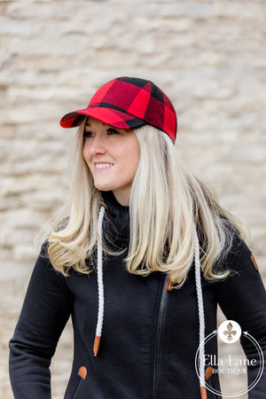 Buffalo Plaid Hat - Red and Black