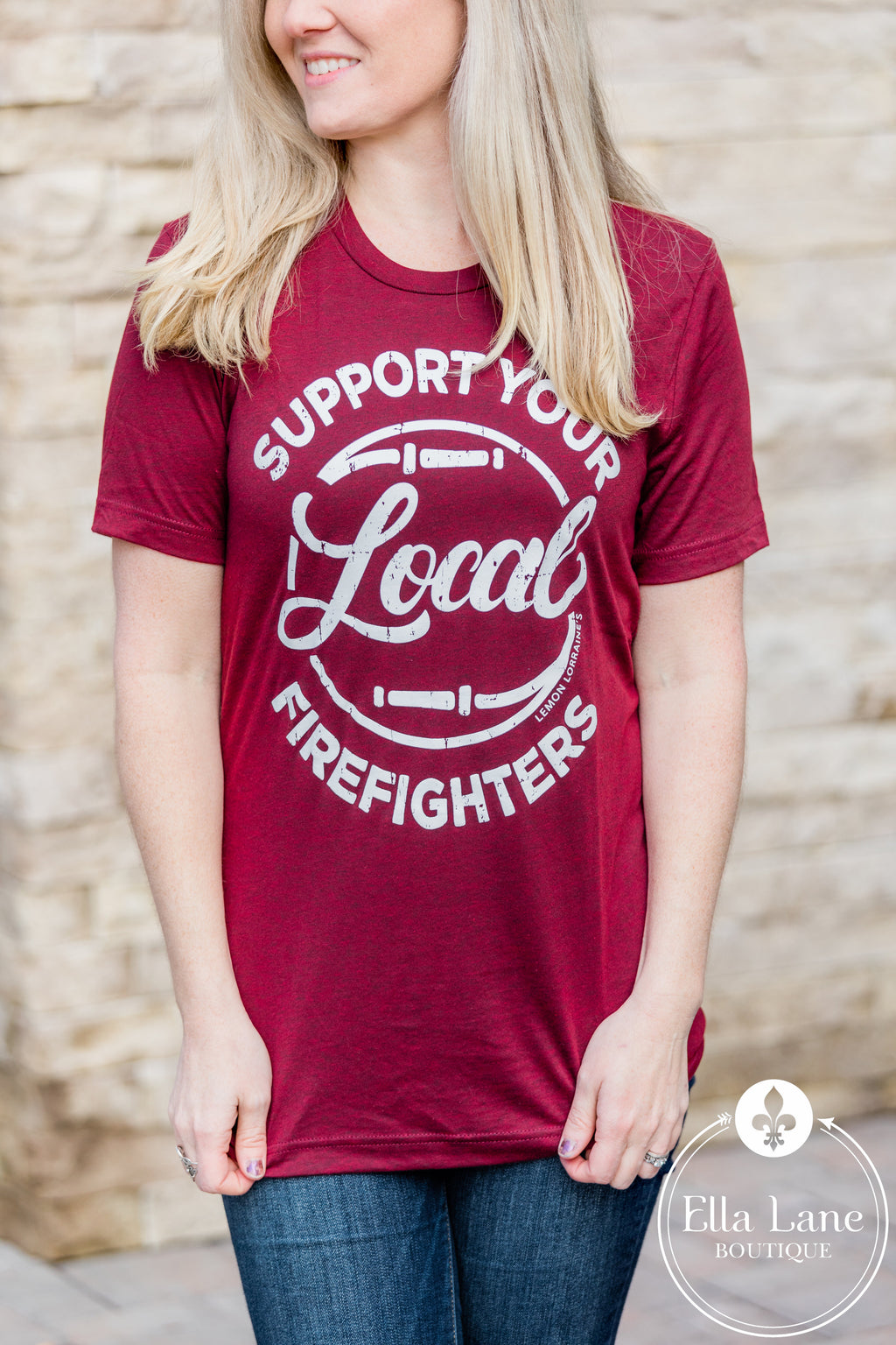 Support Local Firefighters Tee- FINAL SALE
