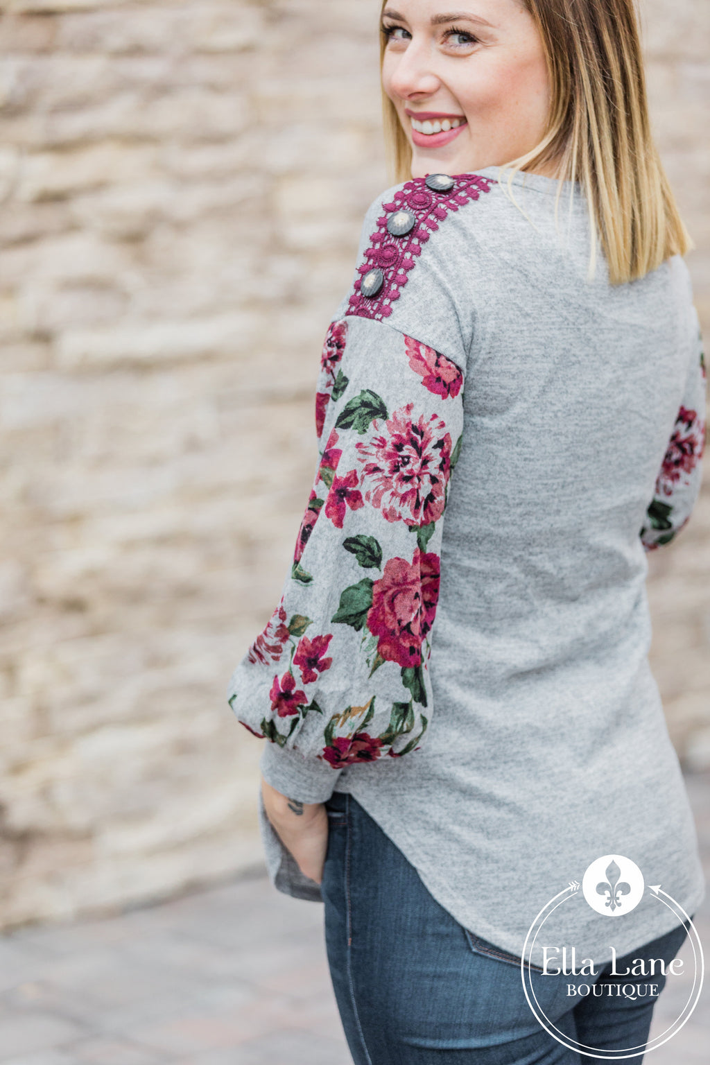Melody Floral Sleeve Top