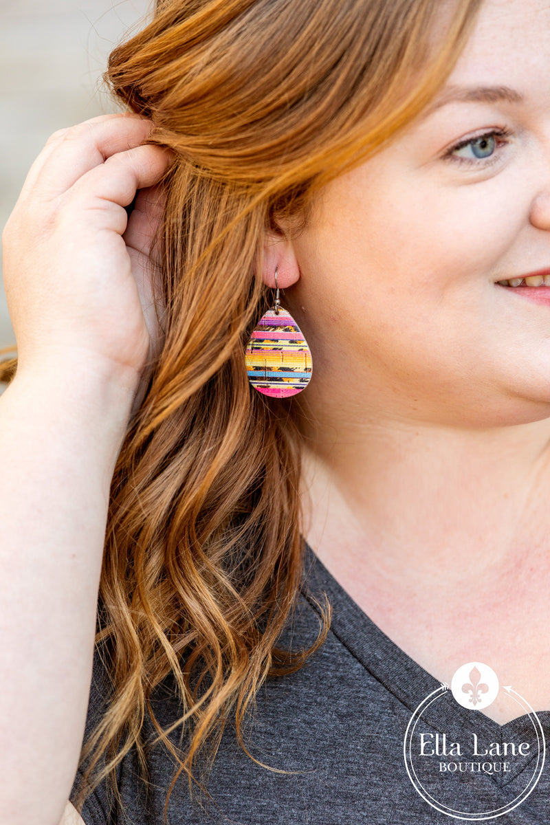 Serape Cork Earrings