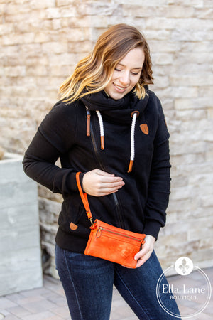Hobo Wallet/Crossbody - Orange