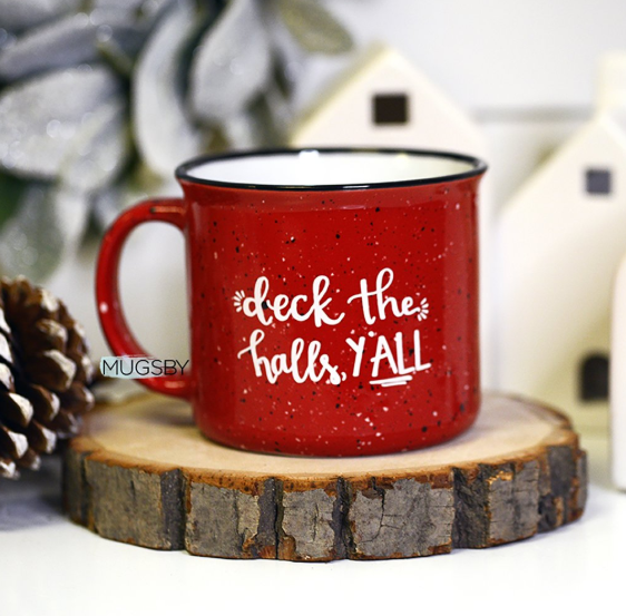 Deck the Halls Y'All Mug