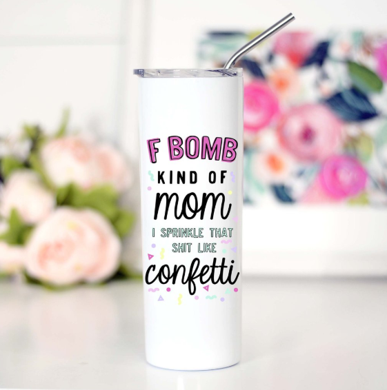 F Bomb Mom Tall Travel Mug