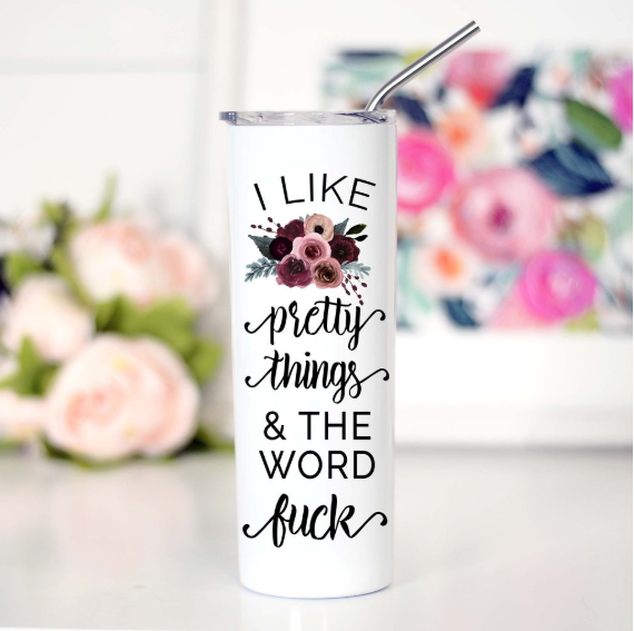 Pretty Things Tall Travel Mug