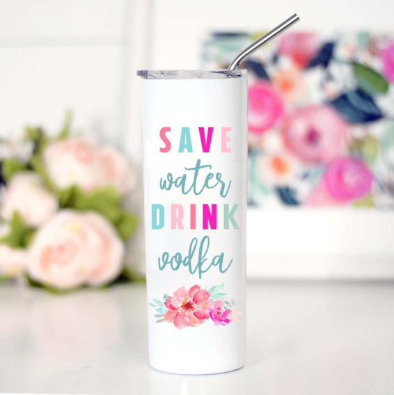 Save Water Tall Travel Mug