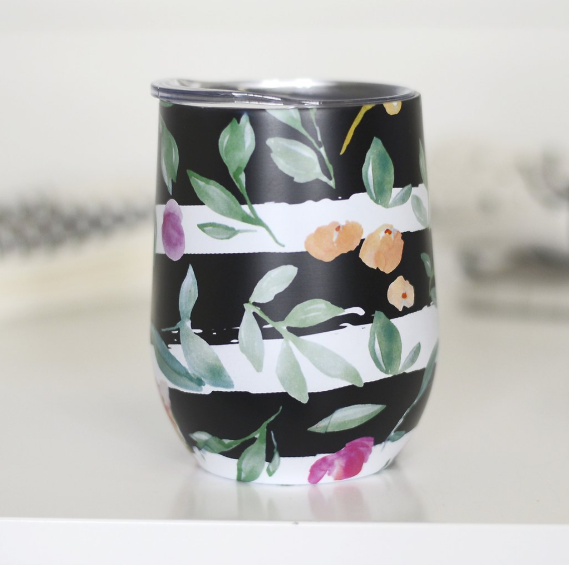 Full Wrap Wine Tumbler - Pattern Mix