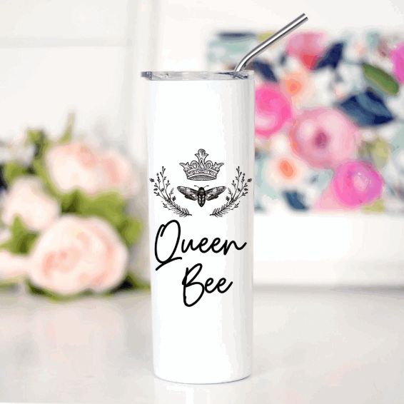 Queen Bee Tall Travel Mug