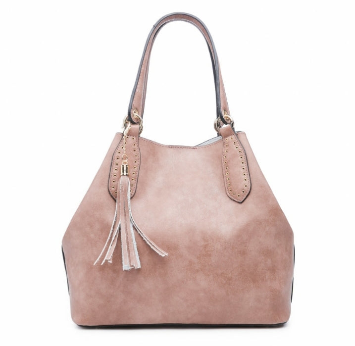 Veronica 2 in 1 Satchel Bag - Pink