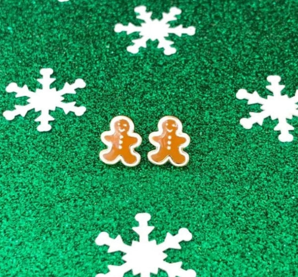 Gingerbread Earring Bowl Studs