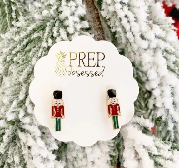 Nutcracker Earring Bowl Studs