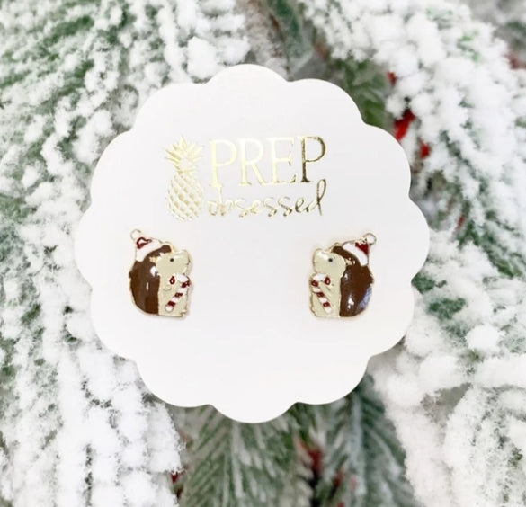 Hedgehog Earring Bowl Studs