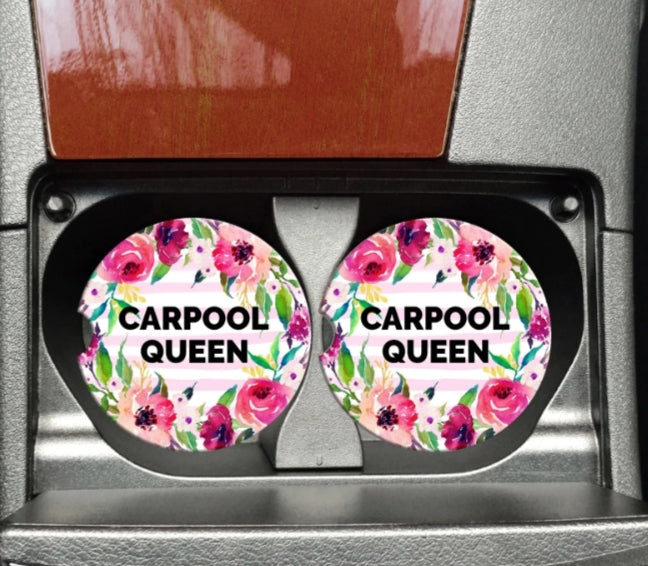 Carpool Queen Car Coaster