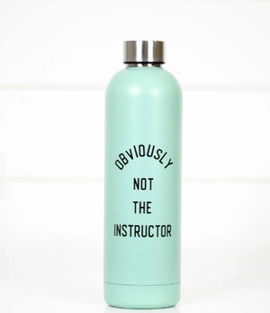 Obviously Not The Instructor Water Bottle