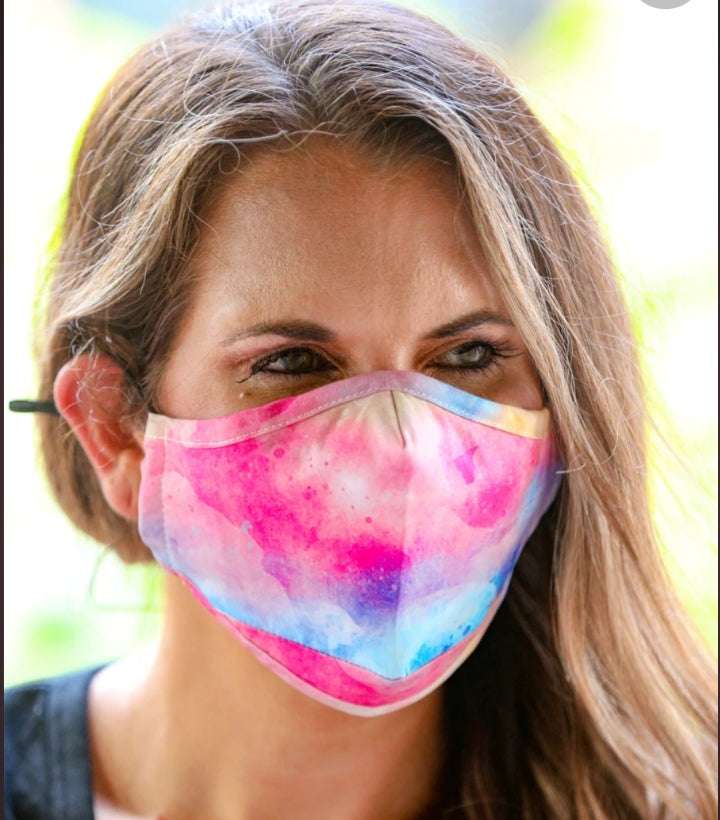 Filter Fabric Face Mask - Tie Dye