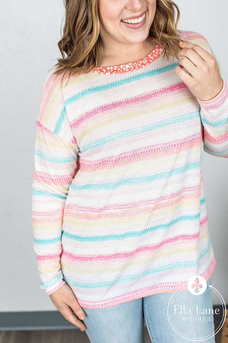 Spring Striped Long Sleeve Top FINAL SALE